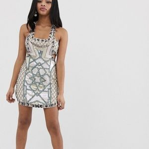 Asos sequin dress. Cut out sides